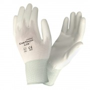 COR-TOUCH LITE™ PREMIUM, 15-GAUGE, WHITE NYLON SHELL, WHITE POLYURETHANE PALM COATING