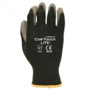 COR-TOUCH LITE™ PREMIUM, 15-GAUGE, BLACK NYLON SHELL, GRAY POLYURETHANE PALM COATING