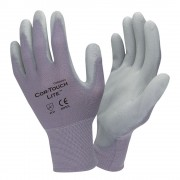 COR-TOUCH LITE™ PREMIUM, 15-GAUGE, GRAY NYLON SHELL, GRAY POLYURETHANE PALM COATING