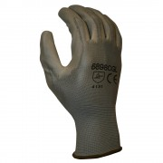 STANDARD, 13-GAUGE, GRAY POLYESTER SHELL, GRAY POLYURETHANE PALM COATING