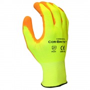 COR-BRITE™ 13-GAUGE, HI-VIS YELLOW POLYESTER SHELL, HI-VIS ORANGE POLYURETHANE PALM COATING