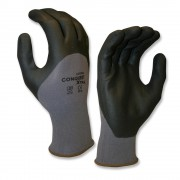 CONQUEST XTRA™, PREMIUM, GRAY NYLON/SPANDEX SHELL, BLACK 3/4 FOAM NITRILE/PU COATING