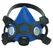 LARGE BLUE HALF MASK ASSEMBLY SILICONE