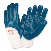 BRAWLER™ PREMIUM DIPPED NITRILE, PALM COATED, JERSEY LINED, KNIT WRIST, SANITIZED®