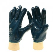BRAWLER™ PREMIUM DIPPED NITRILE, FULLY COATED, JERSEY LINED, KNIT WRIST, SANITIZED®