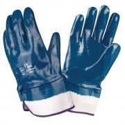 BRAWLER™ PREMIUM DIPPED NITRILE, FULLY COATED, JERSEY LINED, SAFETY CUFF, SANITIZED®