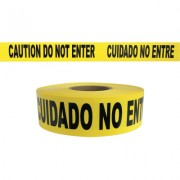 CAUTION DO NOT ENTER - YELLOW 2MIL