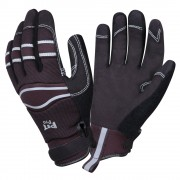 PIT PRO™ ACTIVITY GLOVE, BLACK SYNTHETIC LEATHER PALM, BLACK SPANDEX BACK, HOOK & LOOP CLOSURE, LARGE