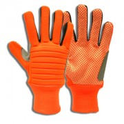 COLOSSUS III™ HI-VIS ORANGE SPANDEX BACK, FOAM METACARPAL PADDING, CANVAS PALM WITH ORANGE PVC DOTS, REINFORCED THUMB CROTCH, NYLON KNIT WRIST