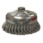 """6"""" SINGLE ROW WIRE CUP BRUSH .023 5/8-11 A.H."""