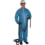 POSI-WEAR FR - BLUE COVERALL ZIPPER FRONT AND CO