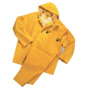 35ML PVC OVER POLY 3PCSRAIN SUIT-YELLOW