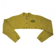 LEATHER CAPE SLEEVE  ANODIZED SNAPS AND RIVETS