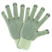 MENS SIZE STRING KNIT DOTTED BOTH SIDES GLOVE