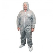 4XLARGE POSIM3 GRAY COVERALL