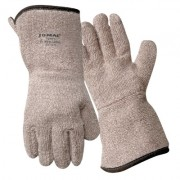 HEAT RESISTANT GAUNTLETTERRY GLOVE  LINED