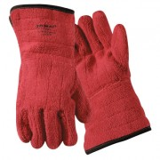TERRY CLOTH FLAME RESISTANT RED
