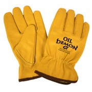 OIL DEMON GT™, PREMIUM OIL-RESISTANT GRAIN GOATSKIN DRIVER, KEVLAR®/GLASS FABRIC LINED, KEYSTONE THUMB, ANSI CUT LEVEL 3