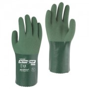 TOWA® ACTIVGRIP™ GREEN MICROFINISH® NITRILE, 13-GAUGE, SEAMLESS POLY/COTTON SHELL, 12-INCH
