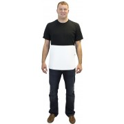 "3/8"" Thick 14""x18"" White Boning Apron, PVC on Two Sides of Hemp & Adjustable Buckle Strap"