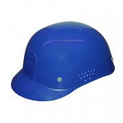 BLUE VENTILATED BUMP CAP: 4-POINT PINLOCK WITH PLASTIC SUSPENSION