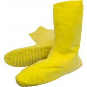 Yellow Heavy Weight Latex Nuke Boot, Grit Sole, Sold by the Pair, MD-XL
