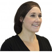"21"" Brown Heavyweight Polyester Hairnet"