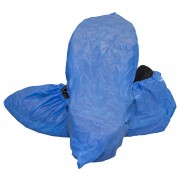 Blue Polypropylene Disposable Non-skid Shoe Cover