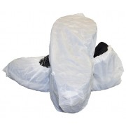 "White Cast Polyethylene ""CPE"" Embossed Shoe Cover"