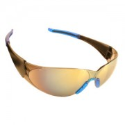 DOBERMAN™ BLACK FRAME, SILVER MIRROR LENS, BLUE-GRAY GEL NOSE & TEMPLE SLEEVES
