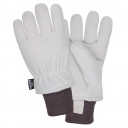FREEZEBEATER® PREMIUM GRAY SPLIT DEERSKIN LEATHER PALM, C150 THINSULATE® LINED, HEAVY NYLON KNIT WRIST, ARAMID SEWN