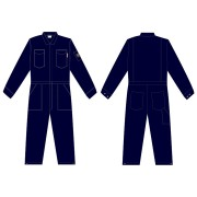 FOREFRONT™ FR COVERALL, NAVY 7 OZ FIREZERO® TWILL FABRIC, FLAP CHEST POCKETS, ZIP FRONT, CHEST SIZE 36