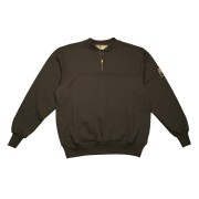 FOREFRONT™ FR QUARTER-ZIP SWEATSHIRT, BLACK, 12 OZ, FIREZERO® FLEECE FABRIC, 6-INCH ZIPPER, POUCH POCKETS, SIZE S