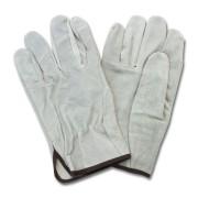 """A/B"" Grade Gunn Cut Gray Leather Drivers, Straight Thumb, 1DZ Pair/Bag, SM-XL"