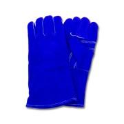 """A"" Grade Gunn Cut Blue Leather Welders, Kevlar Stitching, 1DZ Pair/Bag, Mens"