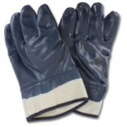 Blue Nitrile Dipped Smooth Finish, Safety Cuff, 1DZ Pair/Bag, Mens