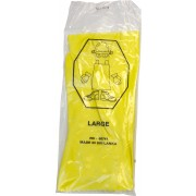 18 MIL, Yellow Flock Lined Latex, One Pair Per Bag