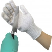 Cut-Resistant String Knit, Spectra Wrapped Stainless Steel Core, Sold by the Glove