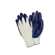 Blue Latex Coated String Knit, 1DZ Pair/Bag, MD-XL