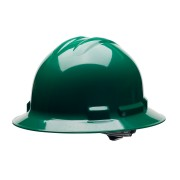 DUO™ FOREST GREEN FULL-BRIM STYLE HELMET, 4-POINT RATCHET SUSPENSION