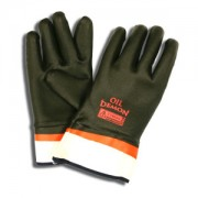 OIL DEMON™ BLACK/ORANGE DOUBLE DIPPED PVC, SANDY FINISH, JERSEY LINED, SAFETY CUFF