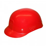 RED VENTILATED BUMP CAP: 4-POINT PINLOCK WITH PLASTIC SUSPENSION