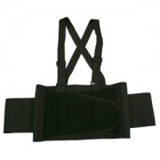BACK SUPPORT BELT WITH ATTACHED SUSPENDERS, QUICK ADJUST ELASTIC OUTER PANELS