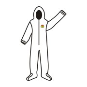 C-MAX™ WHITE SMS COVERALL WITH HOOD & BOOTS, ZIPPER FRONT, ELASTIC AT WAIST, WRISTS, ANKLES, HOOD & BOOTS