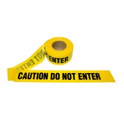 3 MIL YELLOW CAUTION DO NOT ENTER