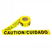 2.0 MIL YELLOW BILINGUAL CAUTION/CUIDADO
