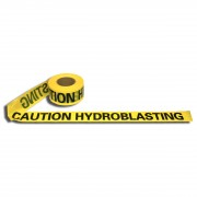 2.0 MIL YELLOW CAUTION HYDROBLASTING