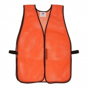 GENERAL PURPOSE, NON-RATED, ORANGE MESH VEST, HOOK & LOOP CLOSURE, NO REFLECTIVE TAPE