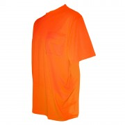 COR-BRITE™ NON-RATED, ORANGE BIRDSEYE MESH T-SHIRT, SHORT SLEEVES, CHEST POCKET