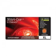 NITRI-COR Z-TREAD™ HI-VIS ORANGE NITRILE, 6 MIL, INDUSTRIAL GRADE, POWDER FREE, Z-TREAD EMBOSSED GRIP, 10 BOXES OF 100